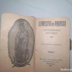 Antigüedades: DEVOCIONARIO 1917 BARCELONA LLAVECITA DEL PARAISO- BUEN ESTADO . Lote 143639054