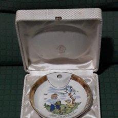 Antigüedades: ANTIGUO PLATO LIMOGES BEBE. Lote 143649848