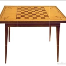 Antigüedades: ANTIGUA MESA AUXILIAR, ESTILO NÓRDICO, CON TABLERO DE AJEDREZ.. Lote 141732870