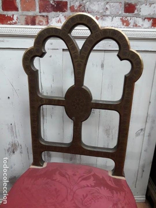 Antigüedades: Pareja de sillas de habitación policromadas Siglo XIX - Foto 3 - 143662914
