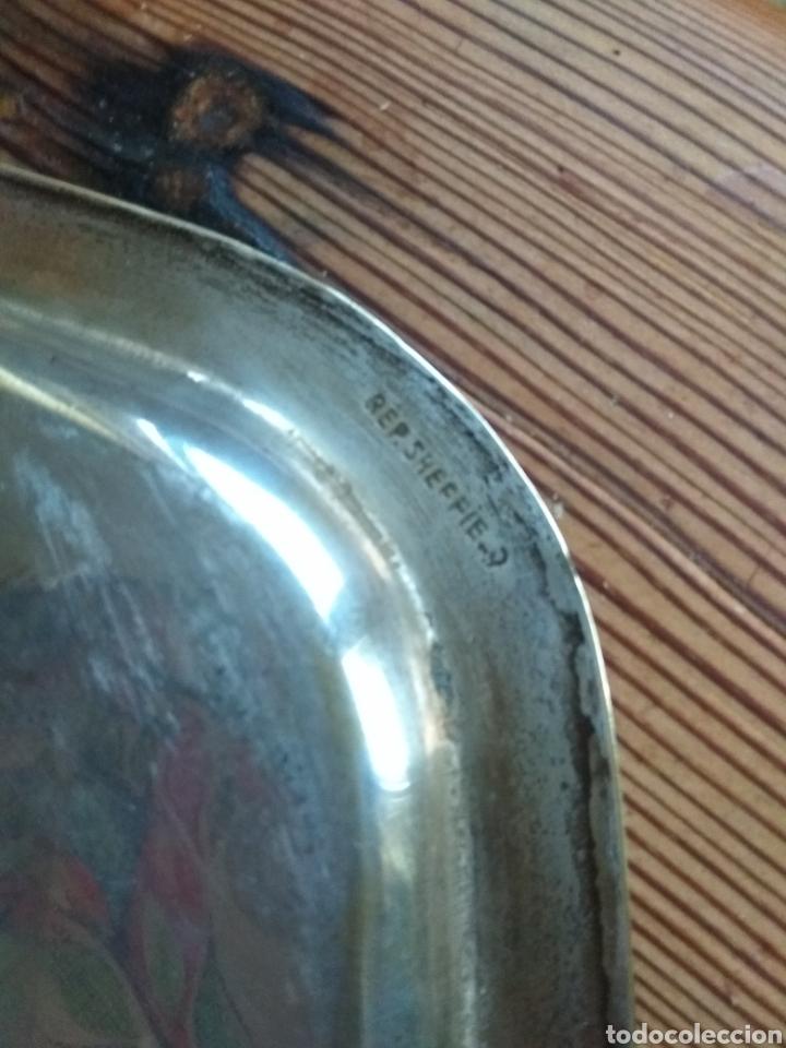 Antigüedades: Bandeja arteplat rep. Shelffield. Industria argentina - Foto 2 - 143671310