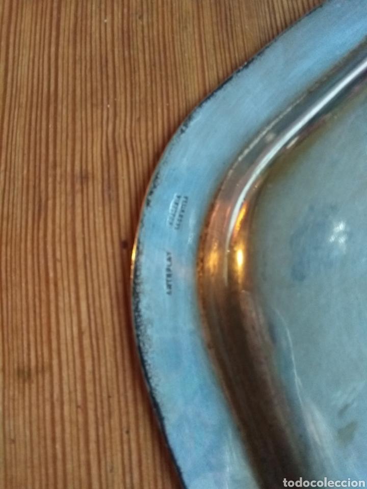 Antigüedades: Bandeja arteplat rep. Shelffield. Industria argentina - Foto 3 - 143671310