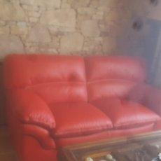 Antigüedades: SOFÁS NUEVOS DE PIEL. Lote 143677620