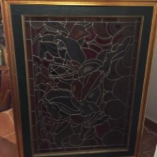 Antiques: VIDRIERA EMPLOMADA DE JOSÉ MANMEJEAN 77 X 1,09. Lote 143683594