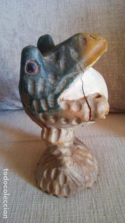 RANA MADERA (Antigüedades - Hogar y Decoración - Figuras Antiguas)