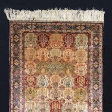 Antigüedades: ESPECTACULAR HEREQUE SEDA/ORO 2.100.000 NUDOS M2. Lote 143695966