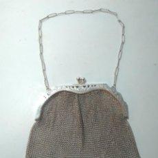 Antigüedades: BOLSO DE MALLA DE PLATA. S.XIX. 13'5X14CM. Lote 143704002