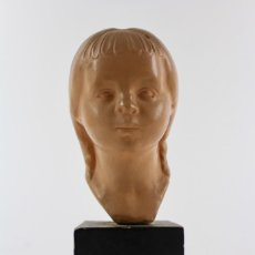 Antigüedades: BUSTO DE TERRACOTA FIRMADO L.BAMADAS.. Lote 143704254
