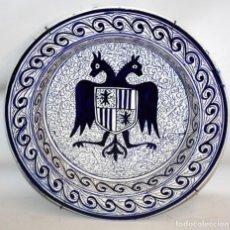 Antigüedades: PLATO HERALDICO CON AGUILA BICEFALA PP SG XX.40 CM.. Lote 143710166