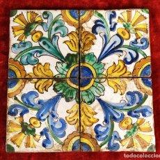 Antigüedades: CONJUNTO DE AZULEJOS ESMALTADOS. SIGUIENDO MODELOS BARROCOS. CATALUNYA. ESPAÑA. XIX-XX. Lote 143719526