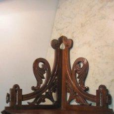 Antigüedades: RINCONERA MODERNISTA REALIZADA EN NOGAL. Lote 143720650