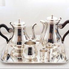 Antigüedades: JUEGO DE CAFÉ Y TÉ FRANCÉS DE CHRISTOFLE. Lote 143721850