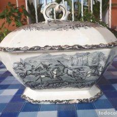 Antigüedades: ANTIGUA SOPERA DE CARTAGENA, SELLO INCISO Y TINTA. Lote 143730890