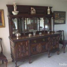 Antigüedades: APARADOR- SIGLO XIX -CAOBA -CHIPPENDALE. TRINCHANTE- SIGLO XIX -CAOBA -CHIPPENDALE. INGLESES.. Lote 143731878