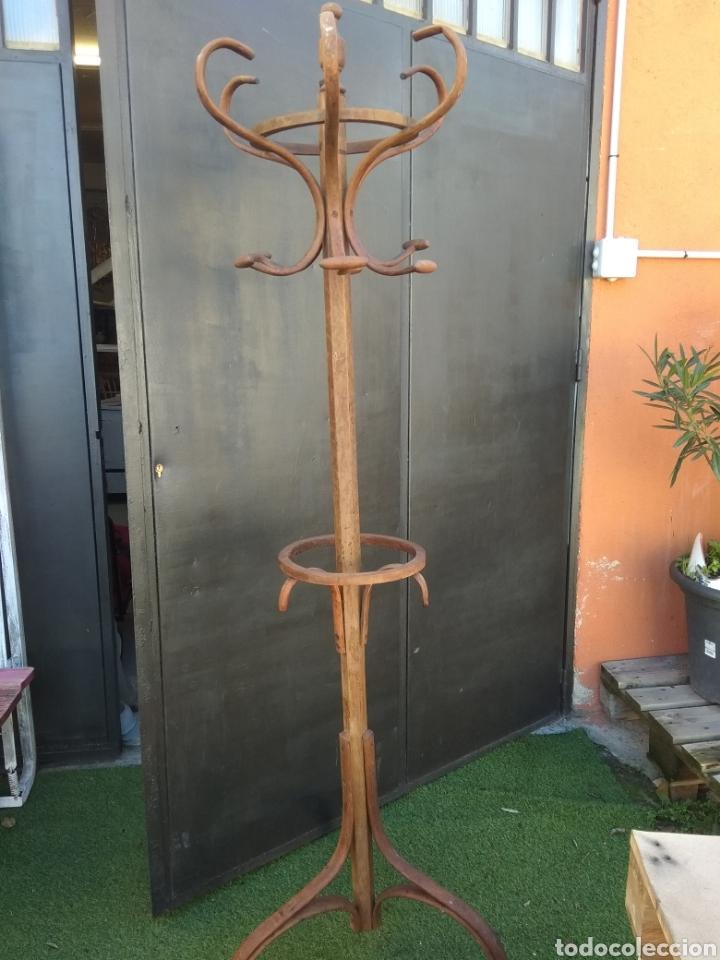 Antigüedades: PERCHERO THONET 6 BRAZOS CON PARAGUERO - Foto 3 - 143737234