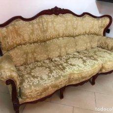 Antigüedades: PRECIOSO SOFA ISABELINO DE GRAN TAMAÑO - MEDIDA 190X110 CM. Lote 143738682