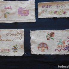 Antiques - CUATRO MUESTRARIOS EN PUNTO DE CRUZ - 143741430