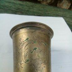 Antigüedades: VASO DE PLATA SIGLO XIX. Lote 143746264