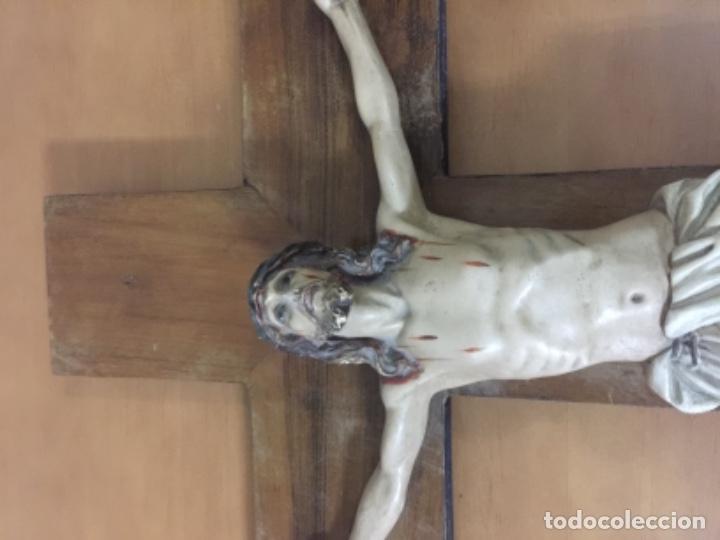 Antigüedades: Antiguo crucifijo antiguo - Foto 3 - 143747754