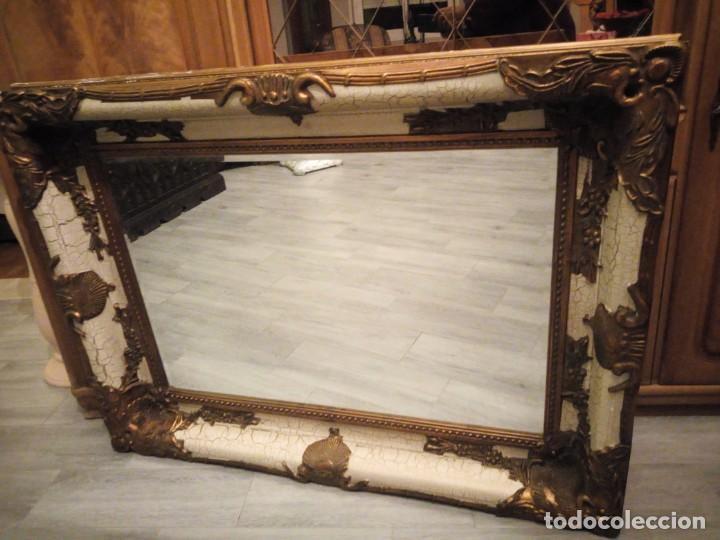 Espejo estilo barroco marco de madera con pasta comprar for Espejos con marco de madera blanco