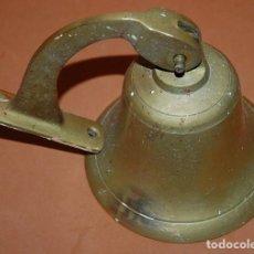Antigüedades: CAMPANA DE LATÓN BRONCE RUSTICA. Lote 143766258