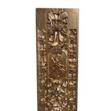 Antigüedades: ANTIGUA TABLA DE RESINA EN COLOR ORO, EFECTO RETABLO, PRECIOSA, MUY DECORATIVA. Lote 143800746