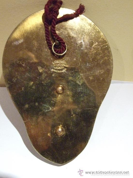 Antigüedades: BENDITERA BRONCE DORADO Y MARMOL MARCA SANTAMARIA - Foto 2 - 143828678