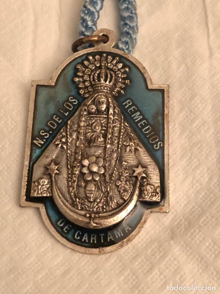 Antigüedades: Medalla religiosa virgen de los remedios - Foto 2 - 143835444