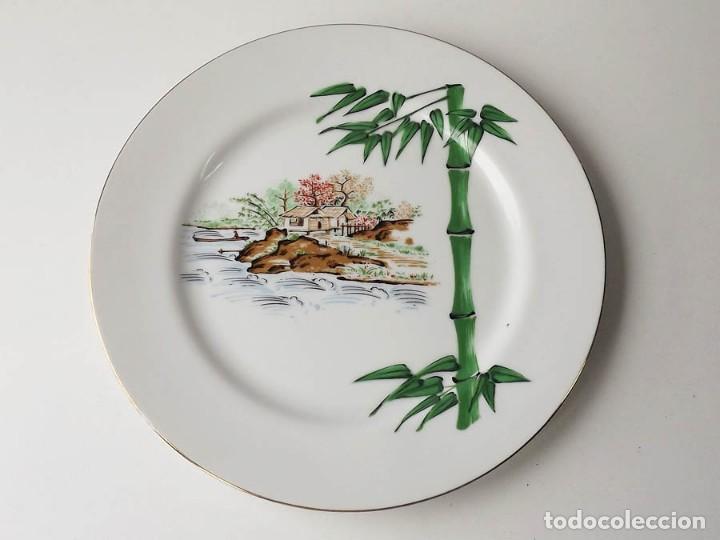 PLATO MIZUKO AÑOS 70 PINTADO A MANO (Antigüedades - Porcelana y Cerámica - Japón)