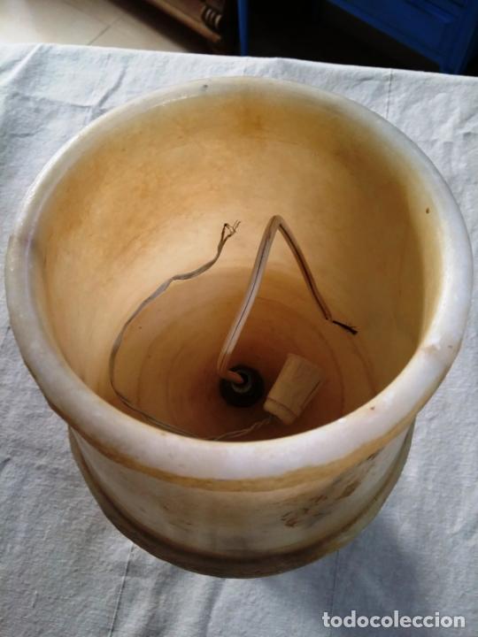 Antigüedades: LÁMPARA DE SOBREMESA EN ALABASTRO - Foto 4 - 143863102
