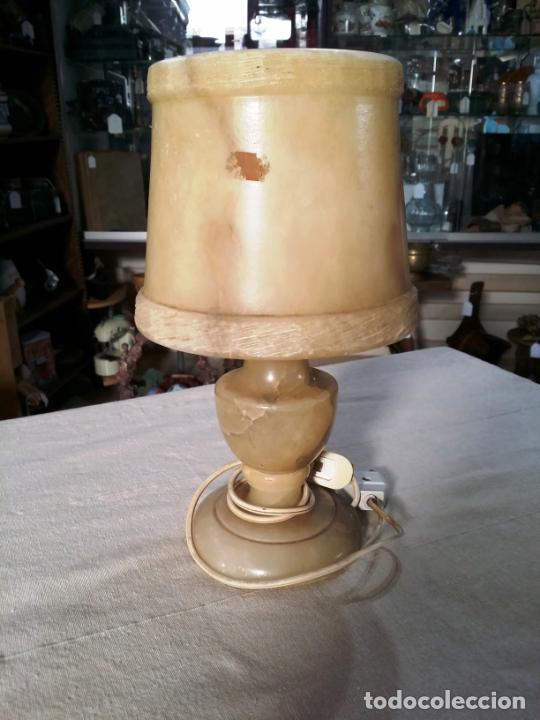 Antigüedades: LÁMPARA DE SOBREMESA EN ALABASTRO - Foto 6 - 143863102