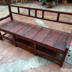 Antigüedades: BANCA DE MADERA. Lote 143865114