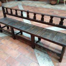 Antigüedades: BANCA DE IGLESIA RESTAURADA. Lote 143865454