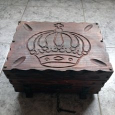 Antigüedades: CURIOSA CAJA DE MADERA. Lote 143867666