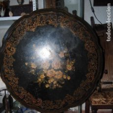 Antigüedades: MESA ANTIGUA VELADOR ISABELINA COLONIAL INGLESA ABATIBLE 1900 . Lote 143871950