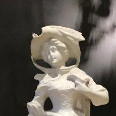 Antigüedades: ANTIGUA PORCELANA BISCUIT, PASTORA. Lote 143876070