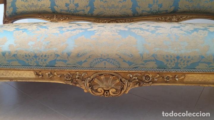 Antigüedades: Conjunto canapé y dos sillas estilo Luis XVI - Foto 3 - 143877996