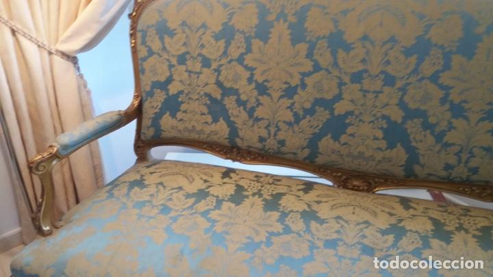 Antigüedades: Conjunto canapé y dos sillas estilo Luis XVI - Foto 4 - 143877996