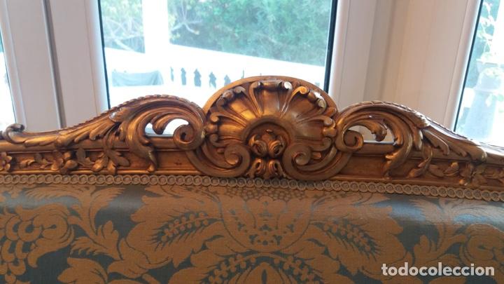 Antigüedades: Conjunto canapé y dos sillas estilo Luis XVI - Foto 5 - 143877996