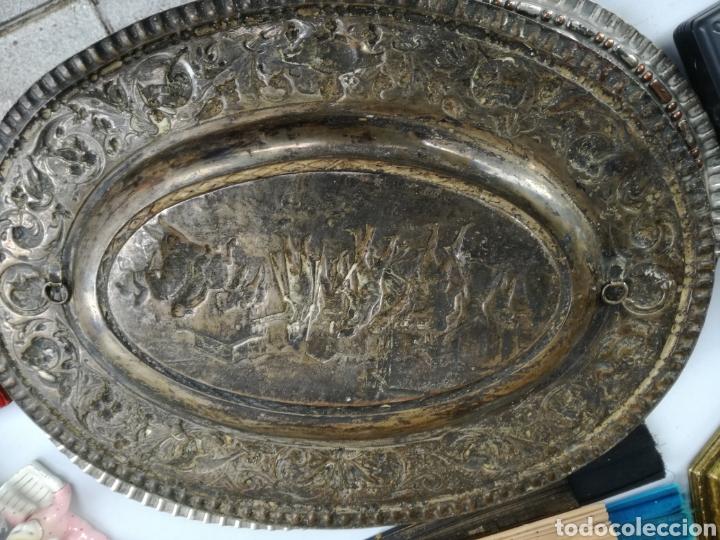 Antigüedades: Ovalo metal plateado - Foto 3 - 143884822
