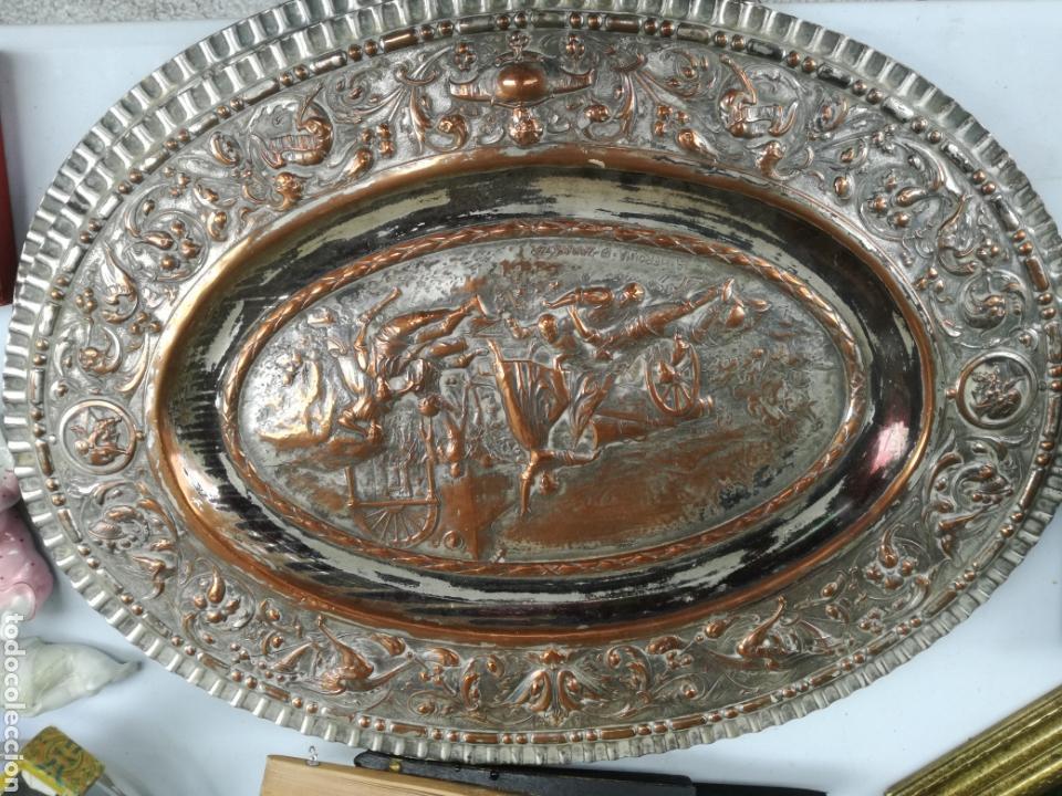 OVALO METAL PLATEADO (Antigüedades - Hogar y Decoración - Otros)