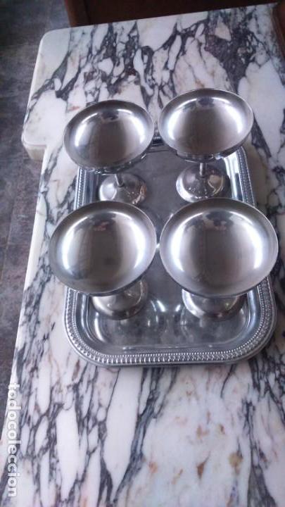 COPAS EN METAL PLATEADO (Antigüedades - Hogar y Decoración - Copas Antiguas)