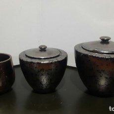 Antigüedades: JARRON DE ///SERRA ABELLA, JORDI // ( TRES PIEZAS JUNTAS ) FIRMADAS EN LA BASE. Lote 143913246