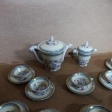 Antigüedades: ANTIGUO JUEGO DE CAFÉ LIMOGES PORCELANA FRANCÉSA ALTA CALIDAD SELLO EN REVERSO. Lote 143922252