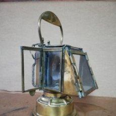 Antigüedades: IMP Y RARO FAROL DE TREN O BARCO SIGLO XIX BRONCE. Lote 143927026