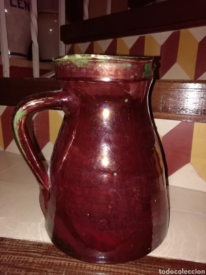 Antigüedades: Impresionante jarra en reflejos metálico muy antigua de Triana - Foto 2 - 143928234