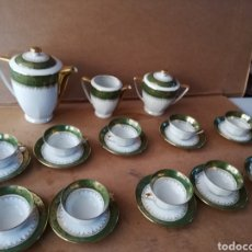 Antigüedades: ESPECTACULAR JUEGO DE CAFÉ LIMOGES PORCELANA FRANCÉSA ALTA CALIDAD SELLO EN REVERSO. Lote 143938752
