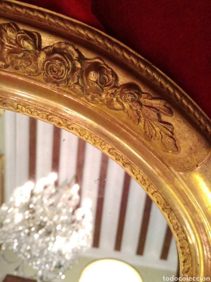 Antigüedades: Espejo con marco dorado siglo XIX - Foto 2 - 143979781