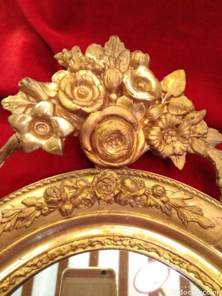 Antigüedades: Espejo con marco dorado siglo XIX - Foto 6 - 143979781