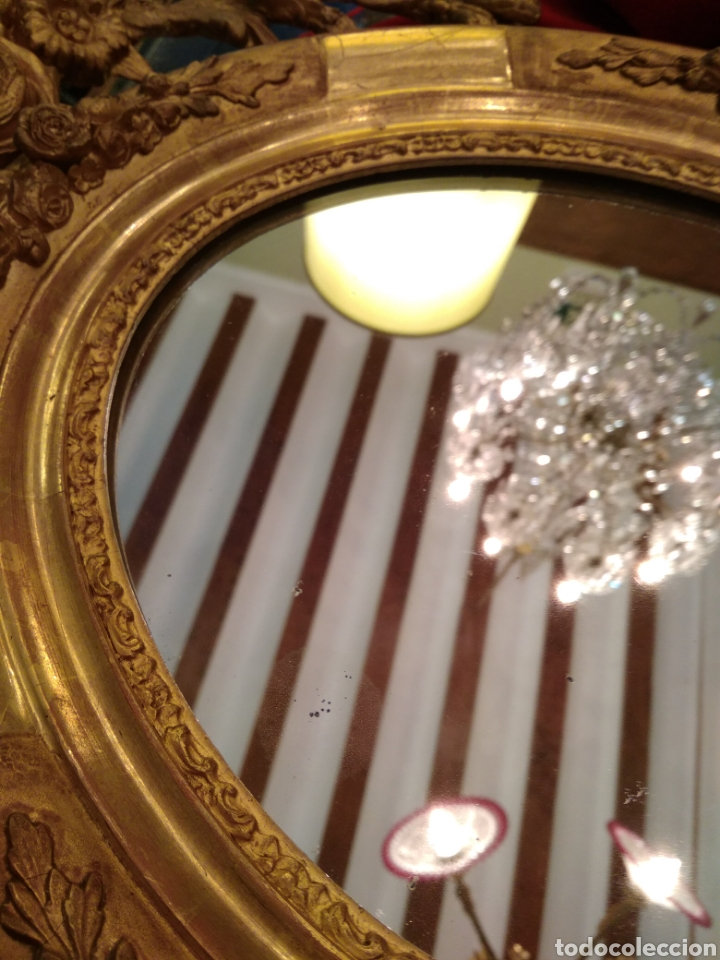 Antigüedades: Espejo con marco dorado siglo XIX - Foto 7 - 143979781